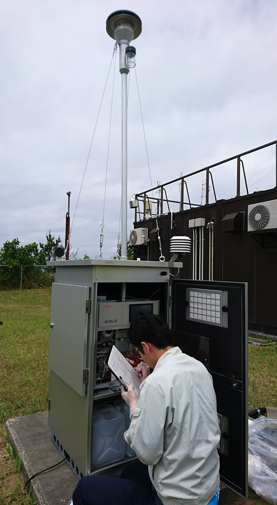 Research for Wet Deposition at Niigata-Maki Acid Deposition Monitoring Station